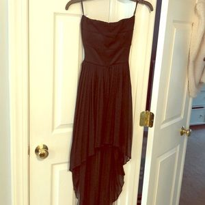 Black Arden B High Low Chiffon Dress